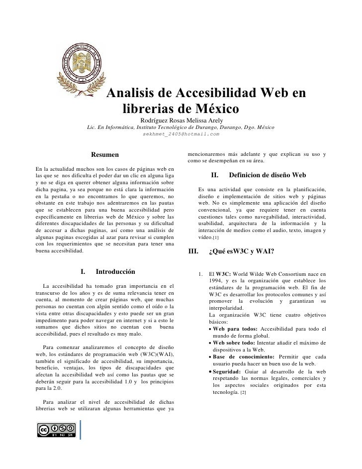 Analisis de Accesibilidad Web en                                 librerias de México                                      ...