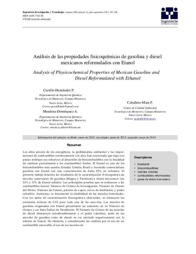 Ingeniería Investigación y Tecnología, volumen XIII (número 3), julio-septiembre 2014: 293-306 ISSN 1405-7743 FI- UNAM (ar...