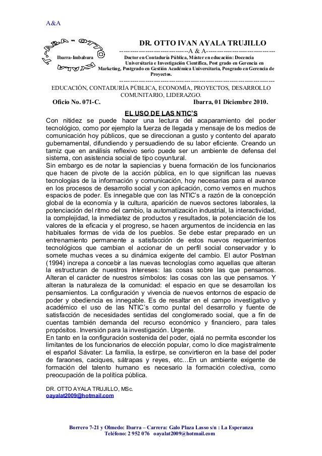 A&A DR. OTTO IVAN AYALA TRUJILLO --------------------------------A & A-------------------------------- Ibarra-Imbabura Doc...