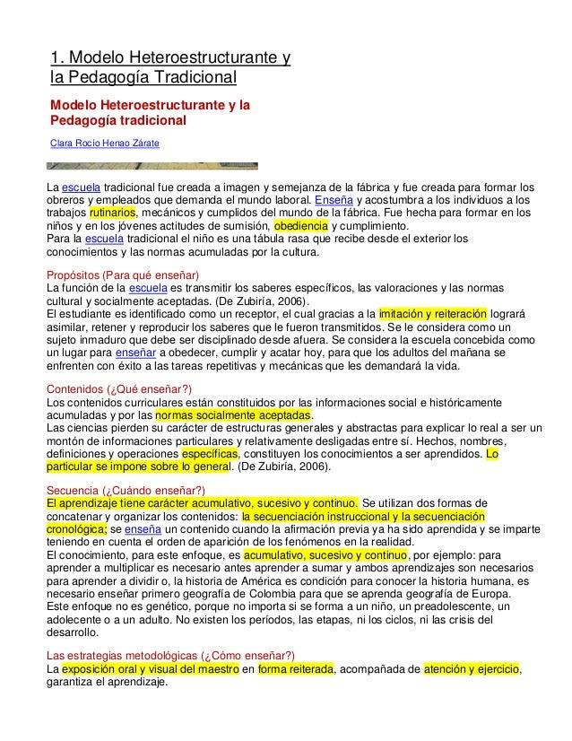 Articulo para exponer tradicional heteroestructurante y autoestructurante