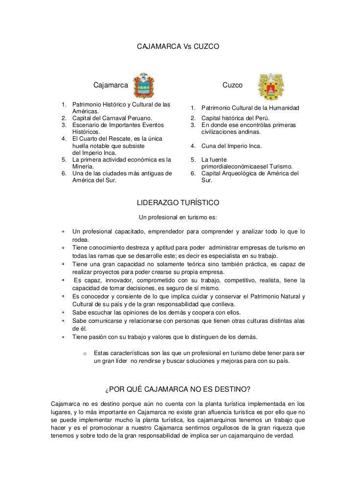 CAJAMARCA Vs CUZCO<br />1736090-508000Cajamarca1635589-571500CuzcoPatrimonio Histórico y Cultural de las Américas.P...