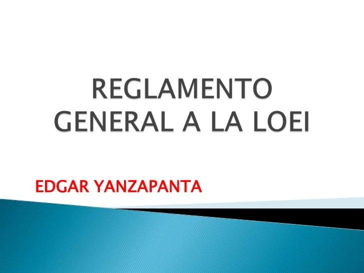 EDGAR YANZAPANTA