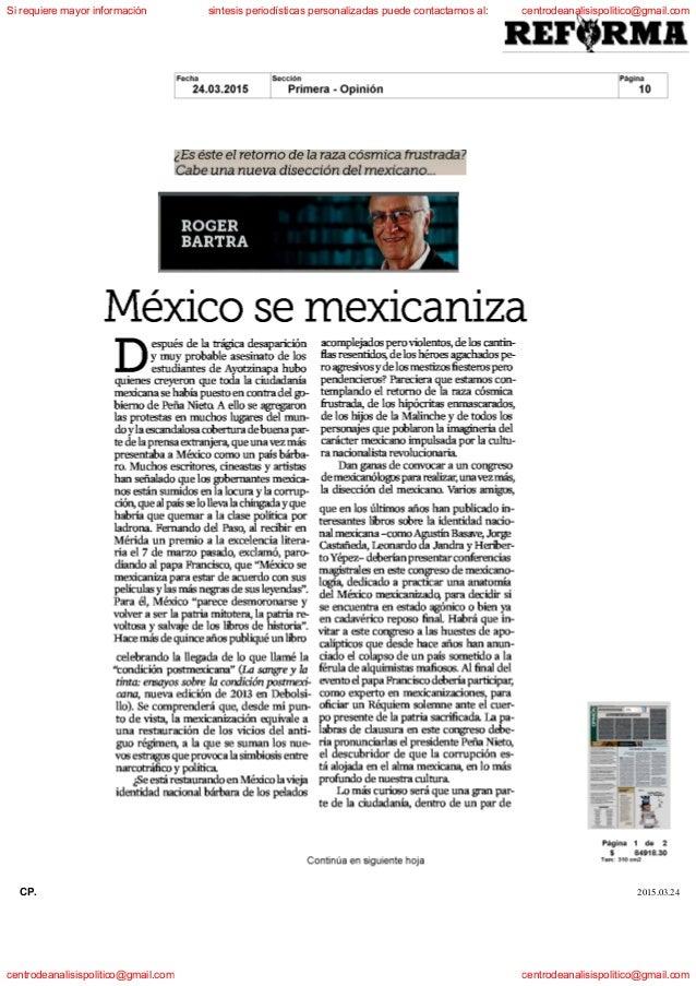 Articulos periodisticos martes 24 de marzo de 2015 mexico for Articulos de arquitectura 2015