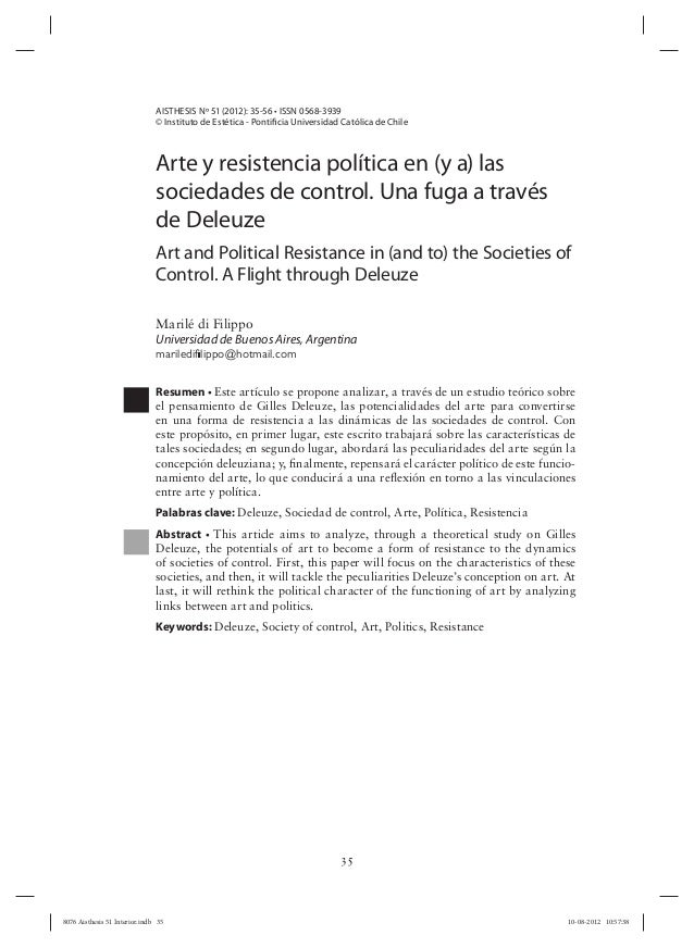AISTHESIS Nº 51 (2012): 35-56 • ISSN 0568-3939                               © Instituto de Estética - Pontificia Universi...