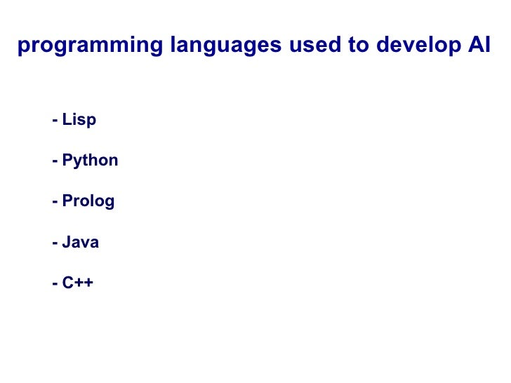 List of programming languages for artificial intelligence ...