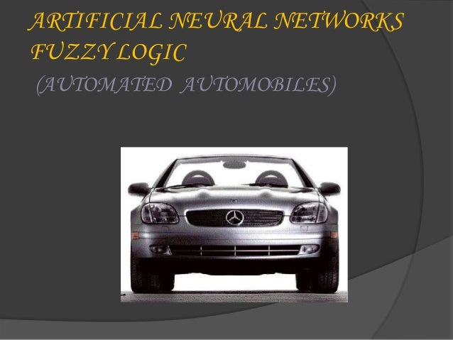 Artificial Neural Networks fuzzy logic