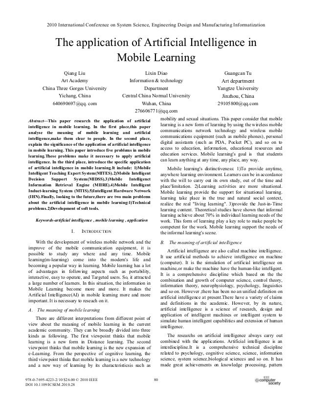 2010 International Conference on System Science, Engineering Design and Manufacturing Informatization                The a...
