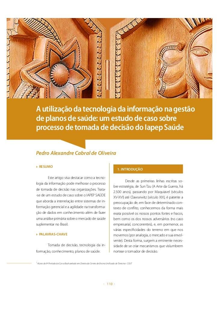 A utilização da tecnologia da informação na gestão de planos de saúde