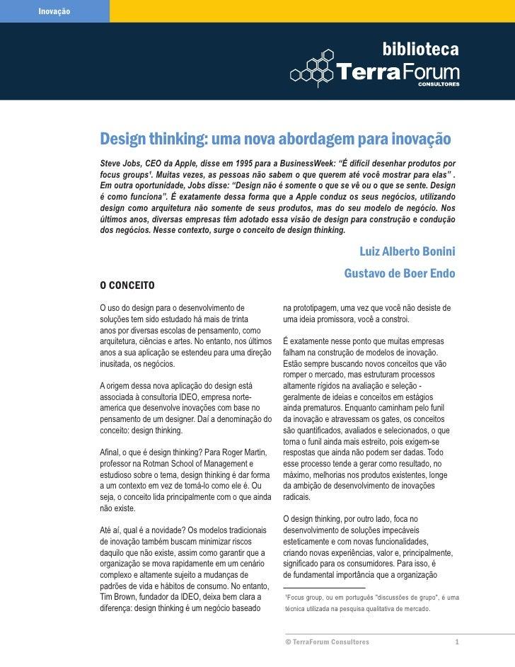 Artigo designthinking