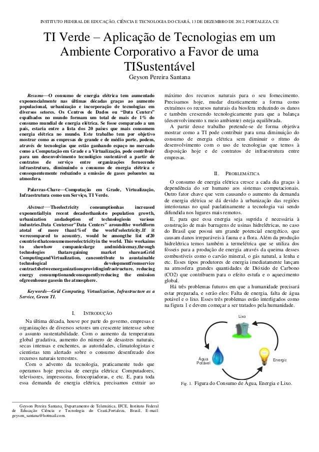 INSTITUTO FEDERAL DE EDUCAÇÃO, CIÊNCIA E TECNOLOGIA DO CEARÁ, 13 DE DEZEMBRO DE 2012, FORTALEZA, CE                 TI Ver...