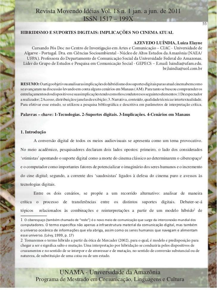 Revista Movendo Idéias Vol. 18 n. 1 jan. a jun. de 2011                           ISSN 1517 – 199X                        ...