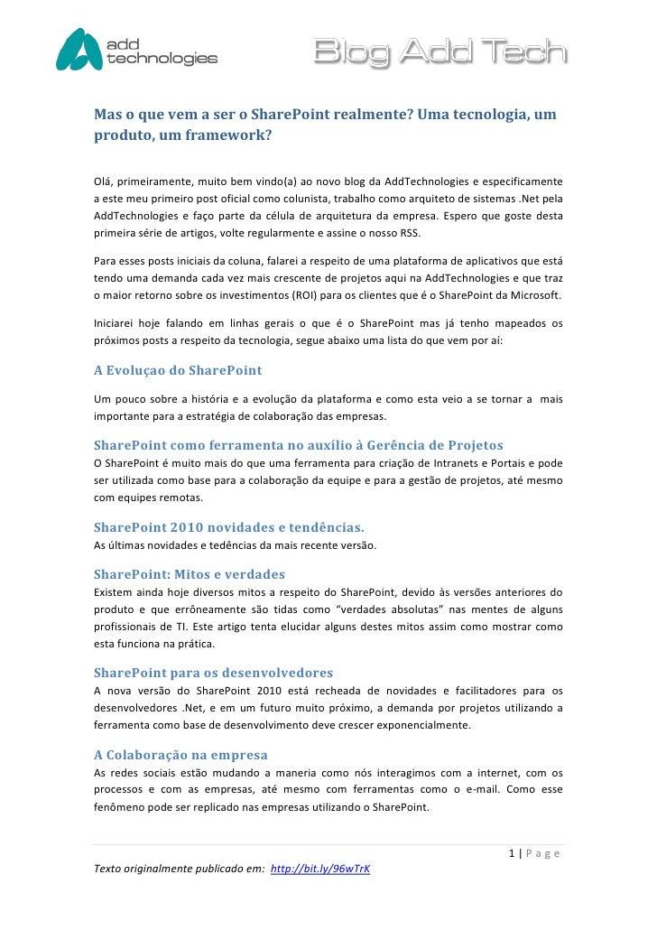 Artigo 1   o que e o share point-versao2