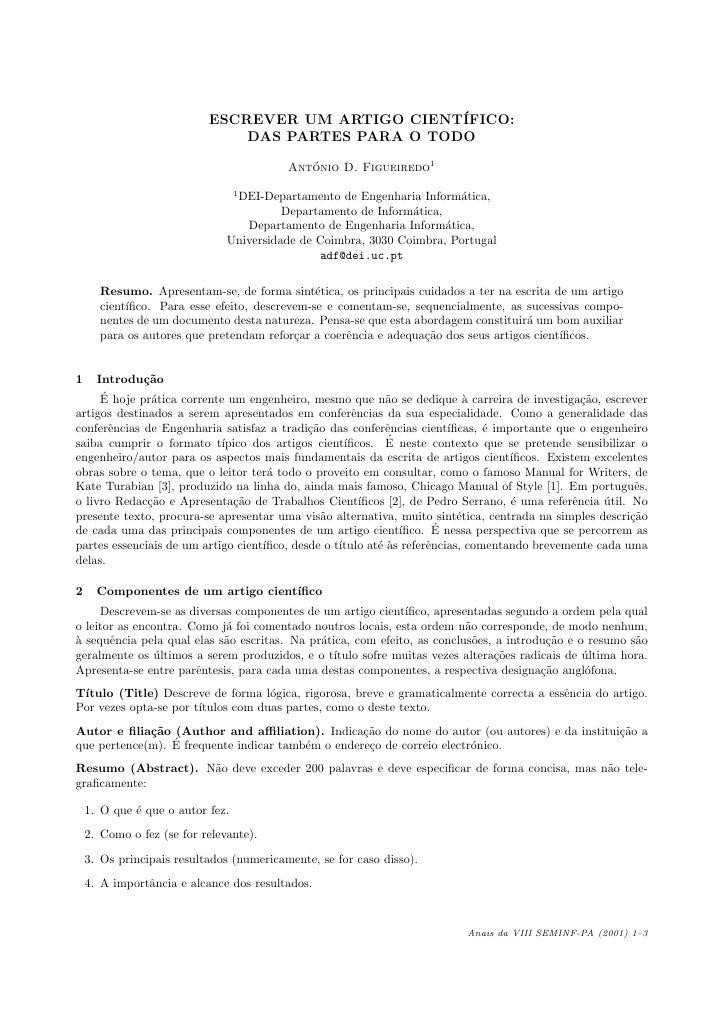 Escrever artigo cientifico