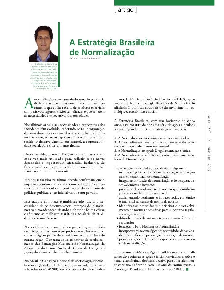 A Estratégia Brasileira de Normalização