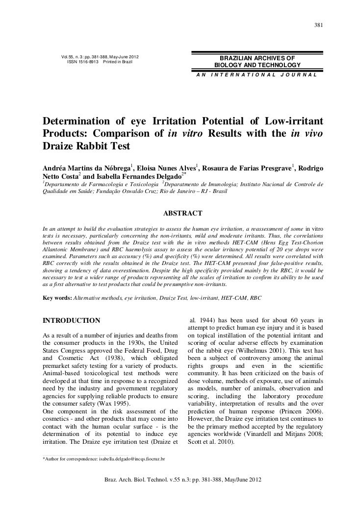 381         Vol.55, n. 3: pp. 381-388, May-June 2012                            BRAZILIAN ARCHIVES OF            ISSN 1516...