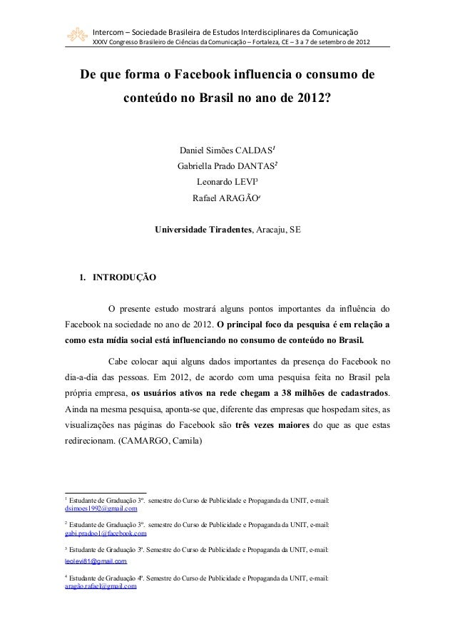 Intercom – Sociedade Brasileira de Estudos Interdisciplinares da Comunicação         XXXV Congresso Brasileiro de Ciências...