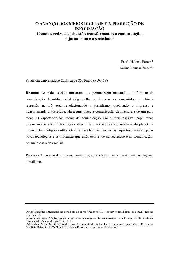 Artigo Científico - Redes Sociais