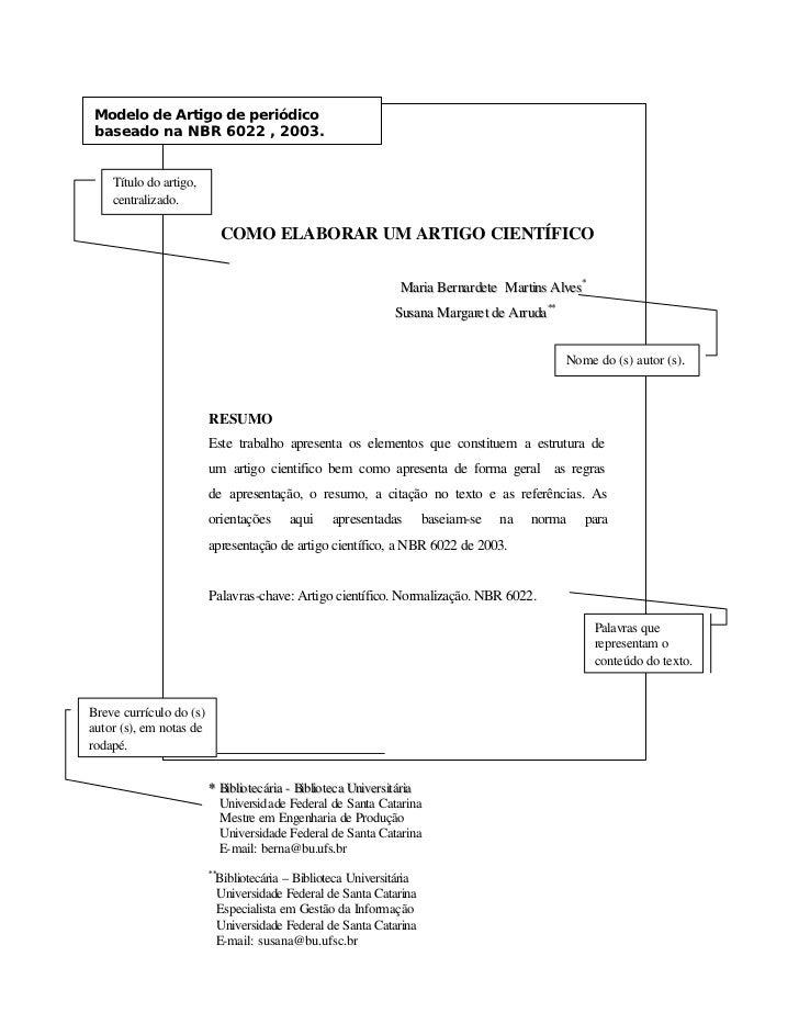 Modelo de Artigo de periódicobaseado na NBR 6022 , 2003.    Título do artigo,    centralizado.                            ...
