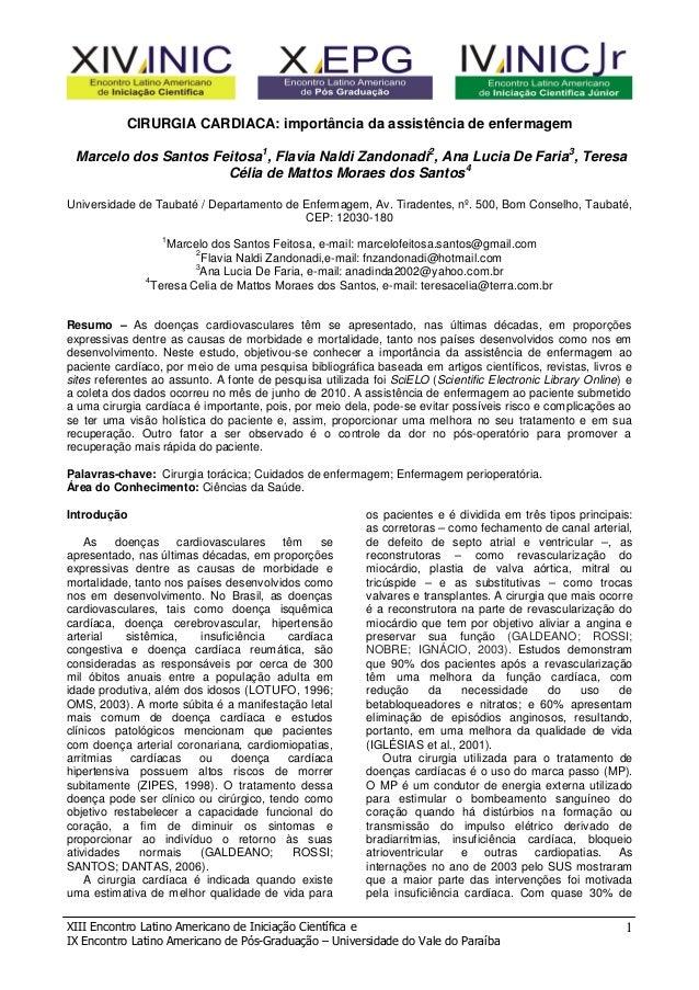 XIII Encontro Latino Americano de Iniciação Científica e IX Encontro Latino Americano de Pós-Graduação – Universidade do V...