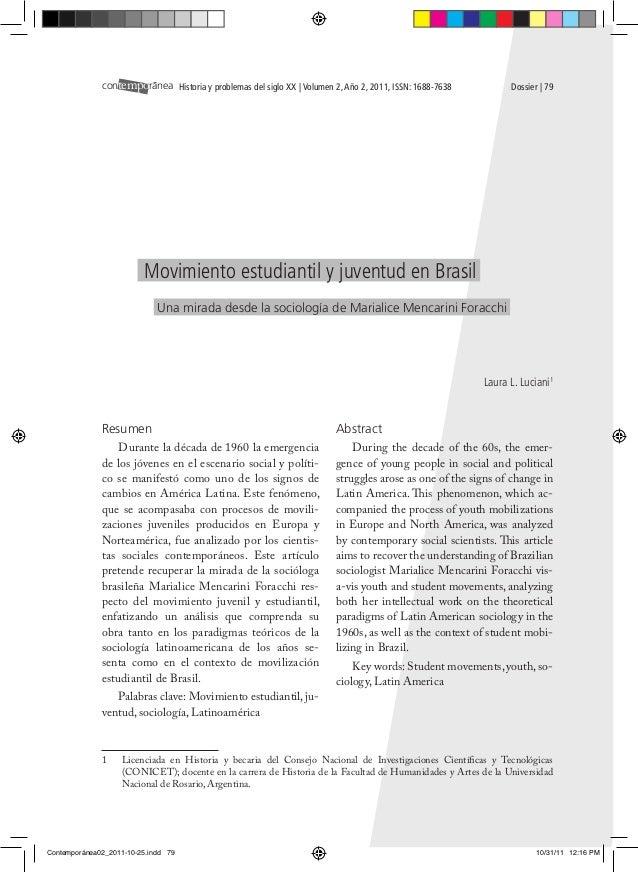 contemporanea Historia y problemas del siglo XX | Volumen 2, Año 2, 2011, ISSN: 1688-7638         Dossier | 79           ...