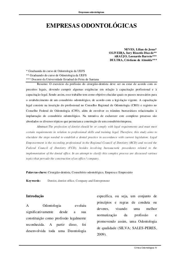 Empresas odontológicas                EMPRESAS ODONTOLÓGICAS                                                              ...