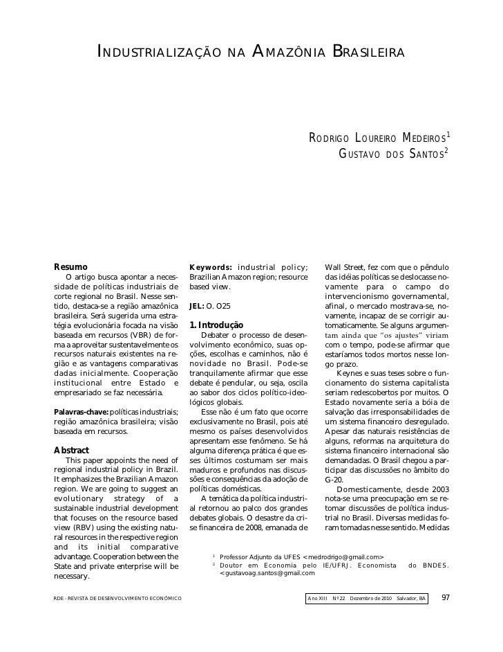 Artigo rde soobre_industrializacao_na_amazonia