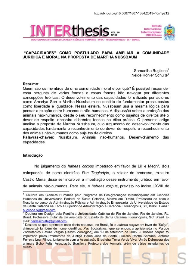 "http://dx.doi.org/10.5007/1807-1384.2013v10n1p212 ""CAPACIDADES"" COMO POSTULADO PARA AMPLIAR A COMUNIDADE JURÍDICA E MORAL ..."