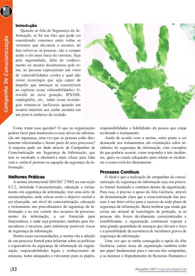 Artigo SEGURANÇA DIGITAL 9ª EDIÇÃO - Campanha de Conscientização