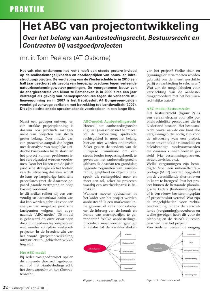 PRAK T IJK              Het ABC van projectontwikkeling             Over het belang van Aanbestedingsrecht, Bestuursrecht ...