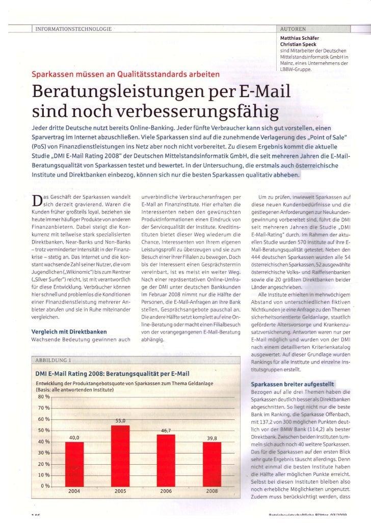 Artikel Betriebswirtschaftliche Blätter 03/2009_DMI E-Mail Rating by Matthias Schaefer