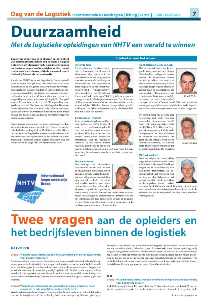 Artikel In De Logistiekkrant Roc Tilburg