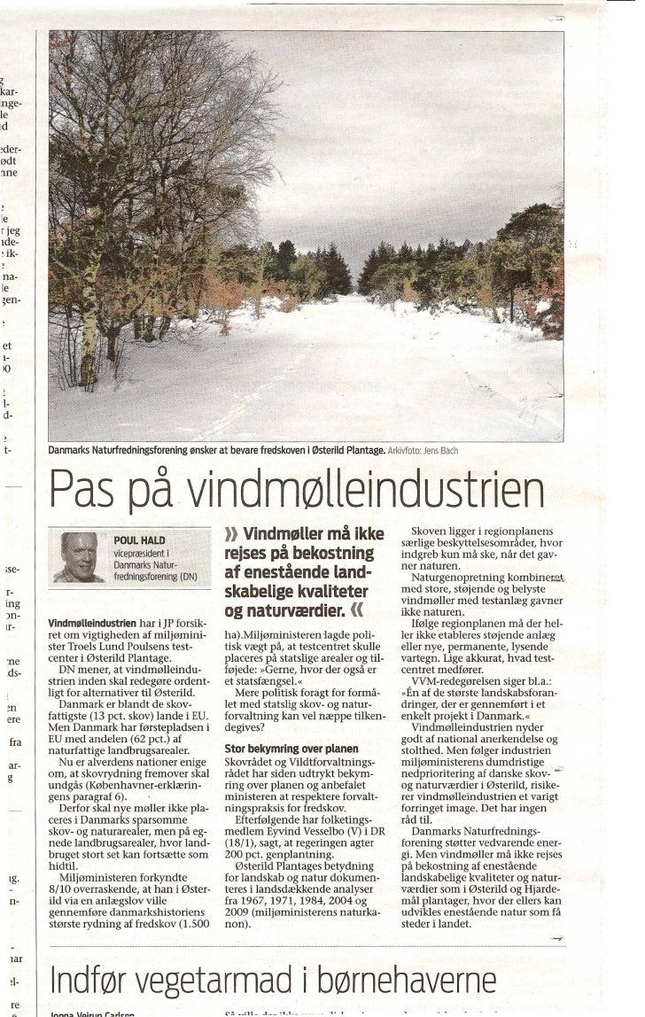 """Poul Hald, Dn """"Pas På Vindmølleindustrien"""" 6.2.2010"""