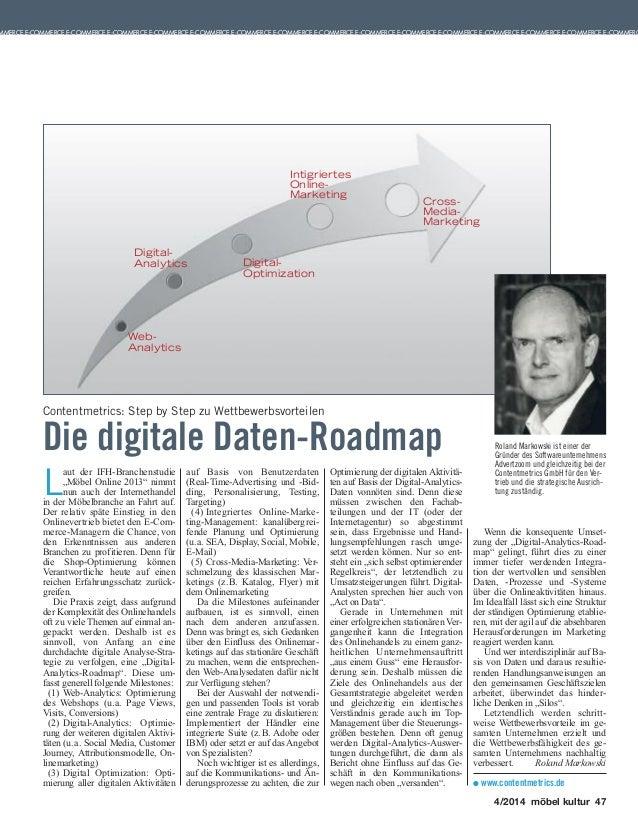 """Artikel in der möbel kultur Ausgabe 04/2014 mit dem Thema: """"Die digital Daten-Roadmap"""""""