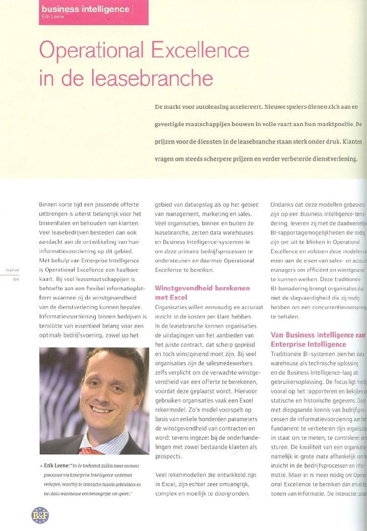 Operational Excellence voor leasebedrijven - Kadenza