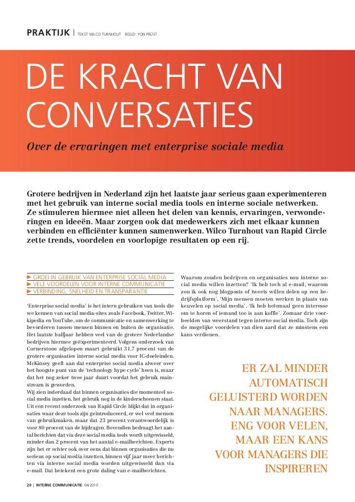 Artikel rapid circle in interne communicatie - de kracht van conversaties binnen enterprise social media