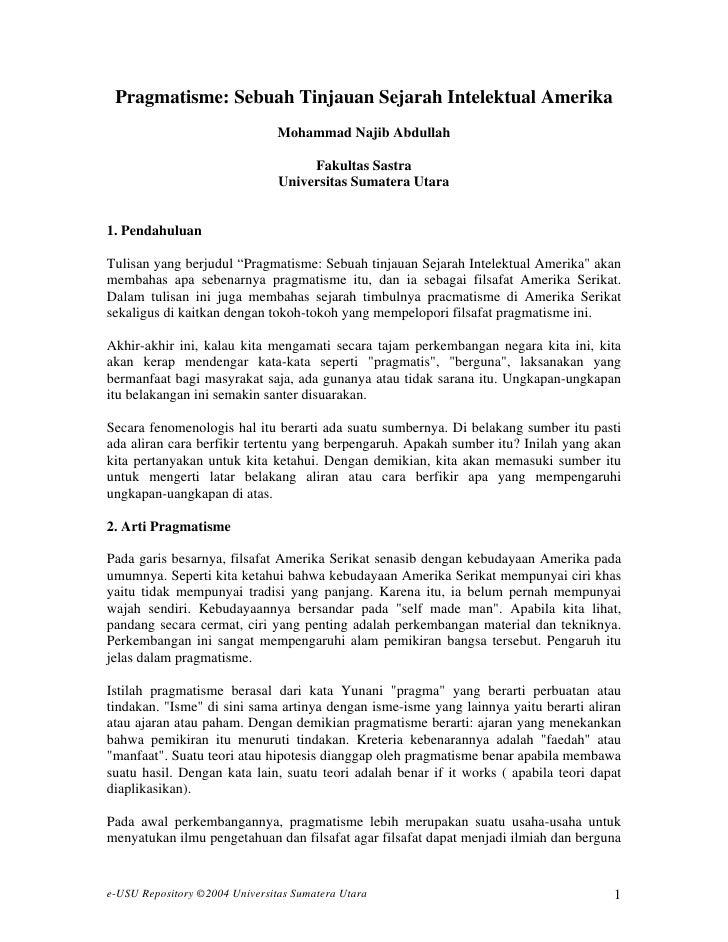 Pragmatisme: Sebuah Tinjauan Sejarah Intelektual Amerika                                Mohammad Najib Abdullah           ...