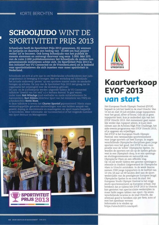 Sportiviteit Prijs 2013