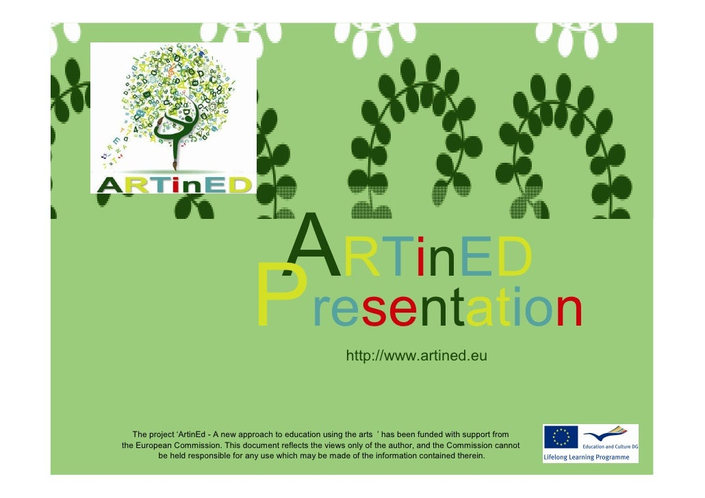 ARTinED - A new approach to education using the arts