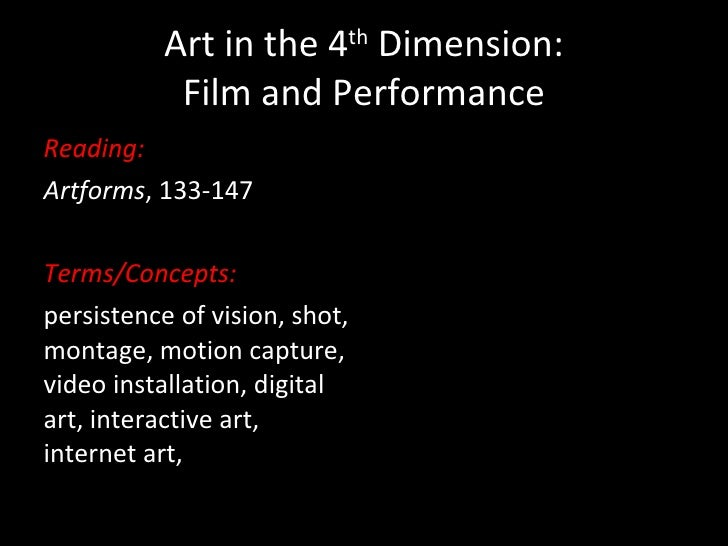 Art in the 4th dimension upload
