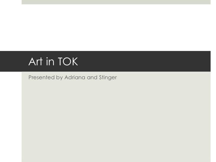 Art in TOK