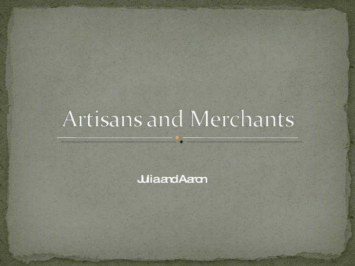 Artisans And Merchants 2