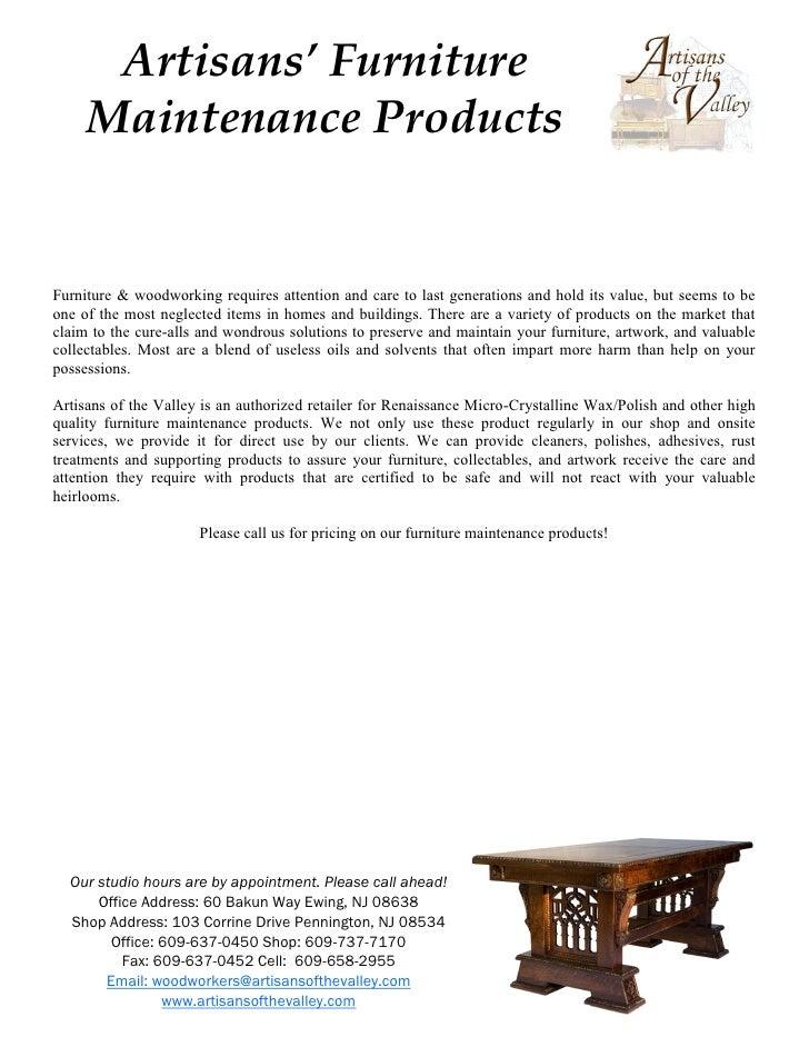 Artisans Maintenance Products