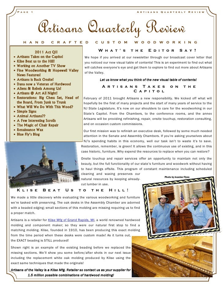 Artisans quarterly review_vol4_issue2_2011