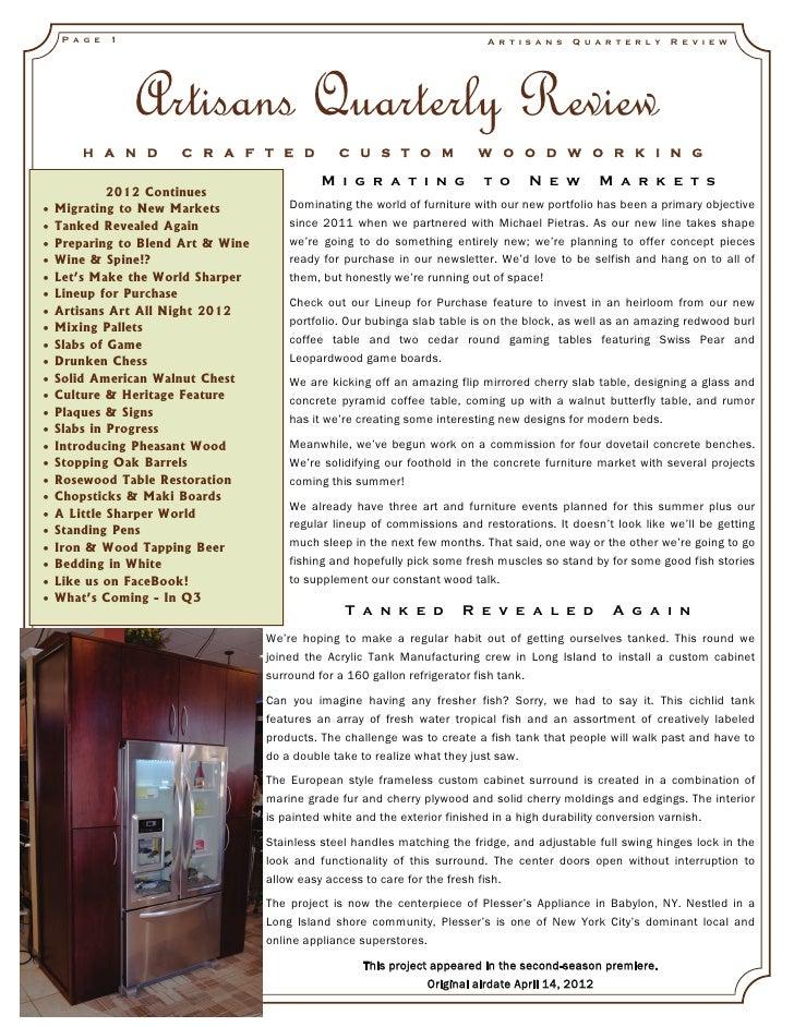 Artisans quarterly review_vol5_issue2_2012