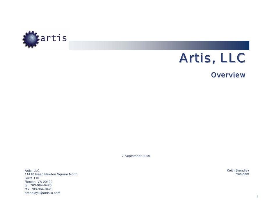 Artis, LLC                                                          Overview                                       7 Septe...
