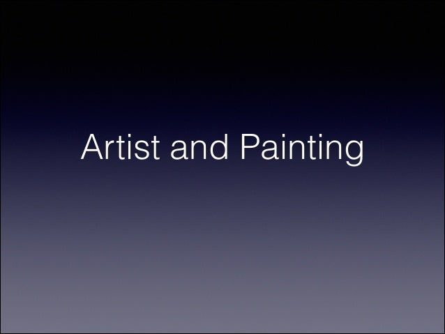 Artist and Painting