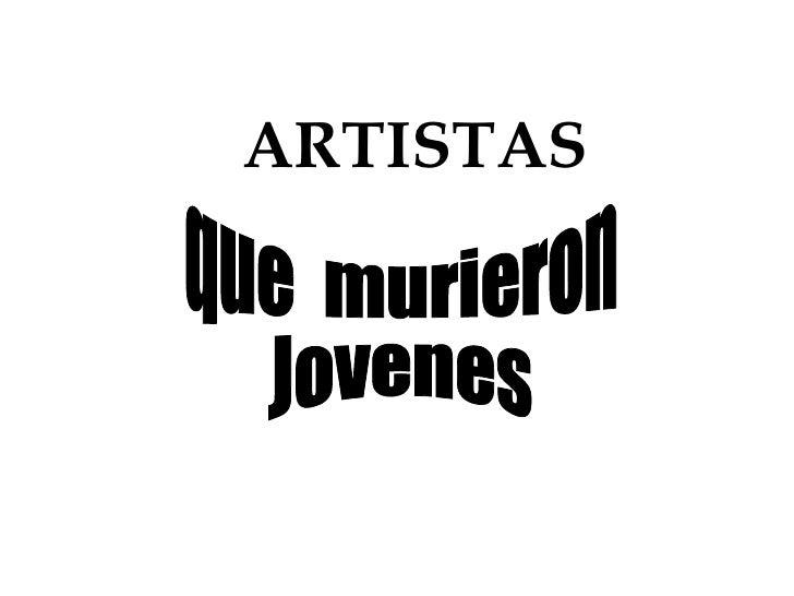 Artistas 2009