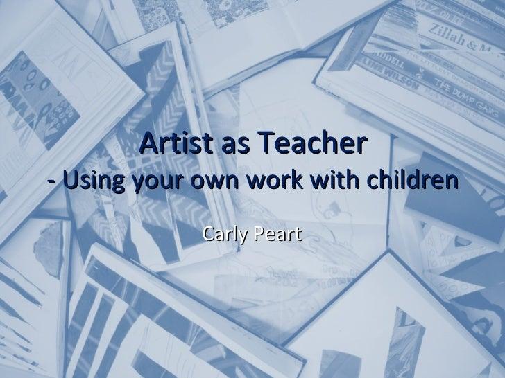 Artist as teacher