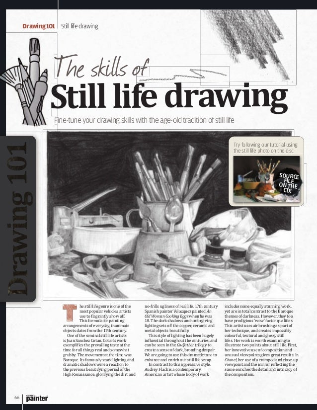 66 Drawing101 Stilllifedrawing Fine-tuneyourdrawingskillswiththeage-oldtraditionofstilllife Stilllifedrawing The skills of...