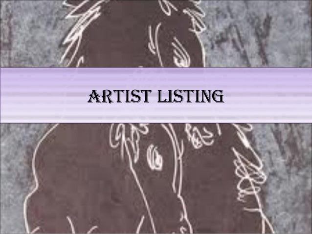 Artist Database